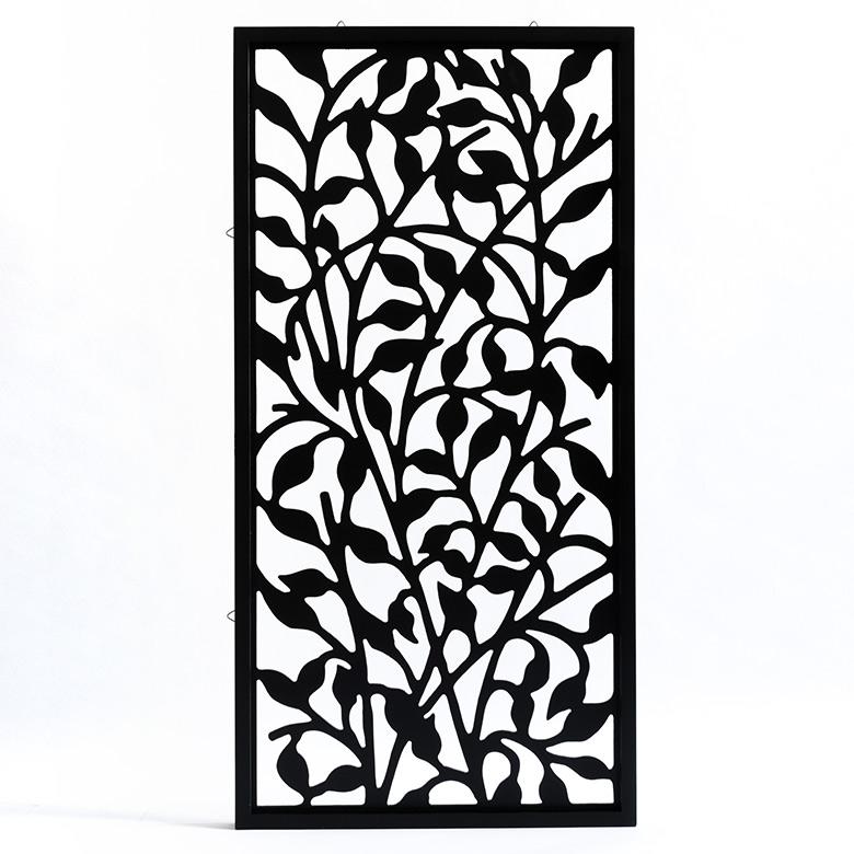 バリ島のリゾートホテルのインテリアのようにお部屋の壁を飾るアジアンアート。人気アジアン雑貨 バリ島のリーフをモチーフにした長方形のアートパネル[40×80cm][10785]【 MULIA ムリア 木彫り 木彫り 木の飾り インテリア レリーフ 欄間 木製彫刻アート 絵画アート ウッド パネル オブジェ ウォールデコレーション 壁掛け バリ雑貨 アジア雑貨 アジアン雑貨 壁飾り 】