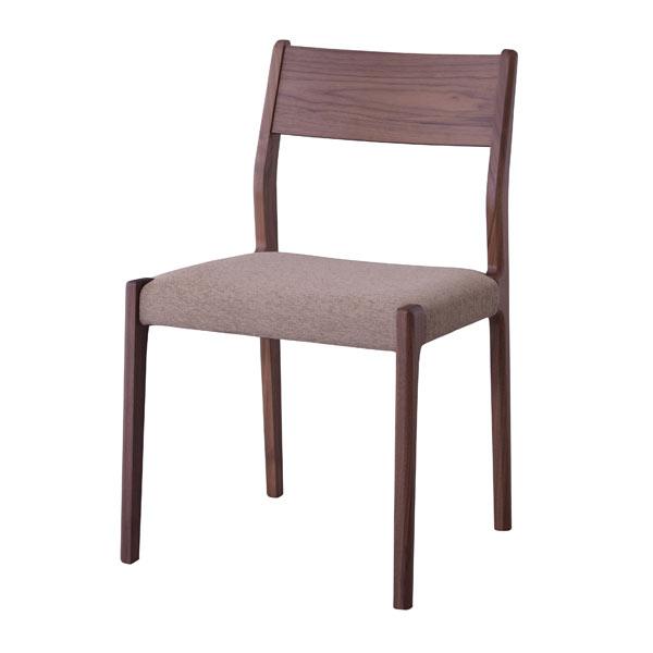 ダイニングチェア 椅子 天然木 ファブリック ウォールナット [91218]【 いす チェアー 木製チェア 布張り おしゃれ 北欧 】