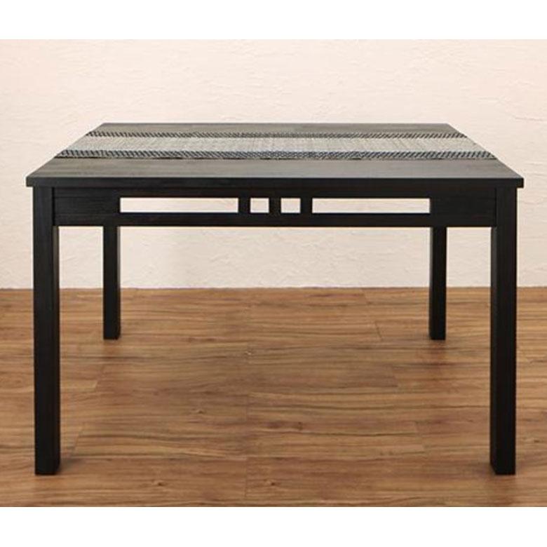 【割引クーポンあり】ダイニングテーブル アジアンモダン 4人掛け 木製 組立品 テーブル幅120cm [99017]【 ダイニングテーブル 単品 食卓 四人掛け アジアン 家具 アジアン家具 おしゃれ リゾート 】