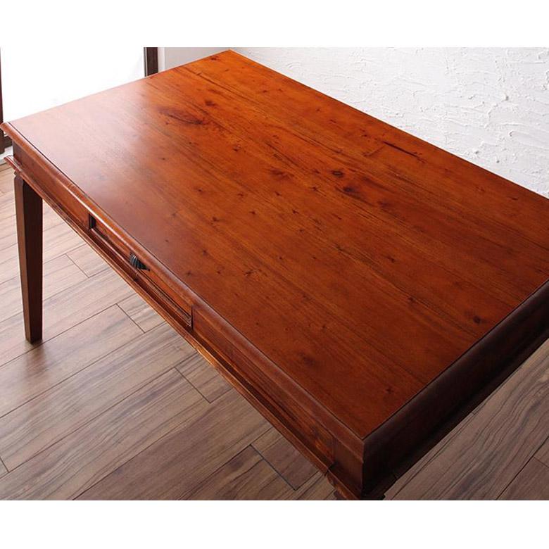ダイニングテーブルアンティーク調4人掛け木製【テーブル】組立品【チェア】完成品テーブル幅130cm[99055]【ダイニングテーブル単品食卓四人掛けアジアン家具アジアン家具おしゃれ】