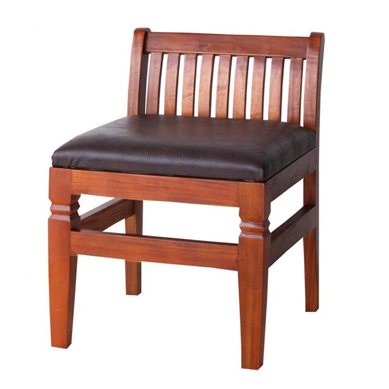 ダイニングチェア 1脚 アンティーク調 座面クッション 木製 完成品 [99058]【 チェア 椅子 木製椅子 食卓椅子 アジアン 家具 アジアン家具 おしゃれ 】