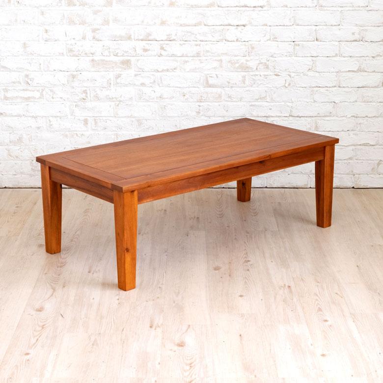 センターテーブル ローテーブル 木製 長方形 110×55cm [91442]【 テーブル 天然木 ナチュラル アカシア ウッド シンプル 大きめ 】