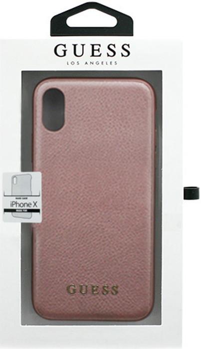 GUESS ゲス iPhoneXS X ケース PU TPU 背面公式ライセンス品 iPhone 父の日 背面 ブランド品 カバー メール便配送 iPhoneX アイフォン 保障 XS