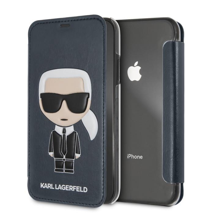 カール ラガーフェルド iPhoneXR PU ケース公式ライセンス品 メール便配送 最新 iPhone 父の日 手帳型ケース ケース XR アイフォン トラスト