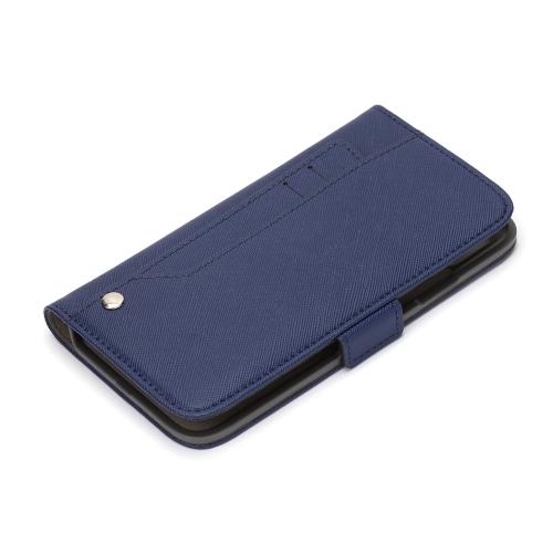 iPhone11Pro ケース 新作多数 スライドポケットフリップカバー ネイビースライドして引き出せるカードポケット付のiPhone ネイビー 父の日 Proフリップカバーです まとめ買い特価 11