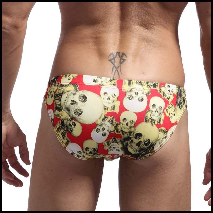 d25178a0ff ... BravePerson / brave person swimwear skull motif low-rise men's swimwear  ...