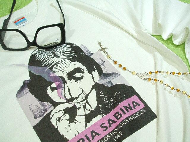 마리아 사비 긴 소매 T-셔츠에서 마리화나, 암 자, 마리화나 티셔츠 남성 긴 팔 마리아 사비 티셔츠 마법사 사 무 마술 버섯 티셔츠 랩 핑 무료