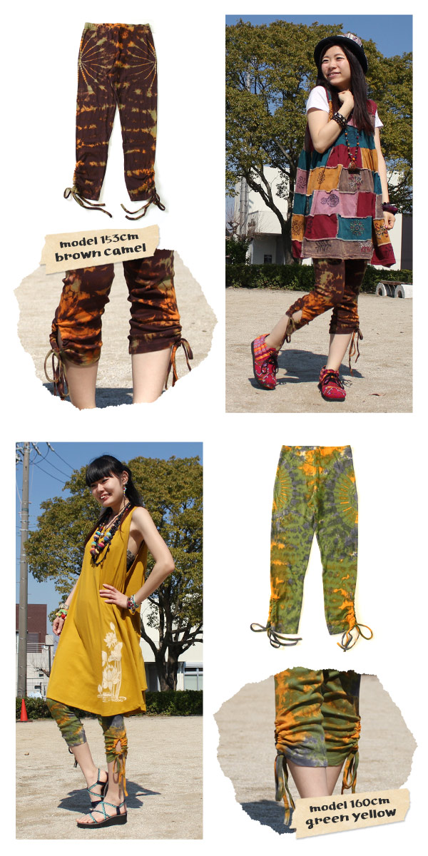 7/10ths of a tidy bow with leggings ★ tsukurechi Ribon! ♪ easy ethnic coordinating ♪ dress or tunic.