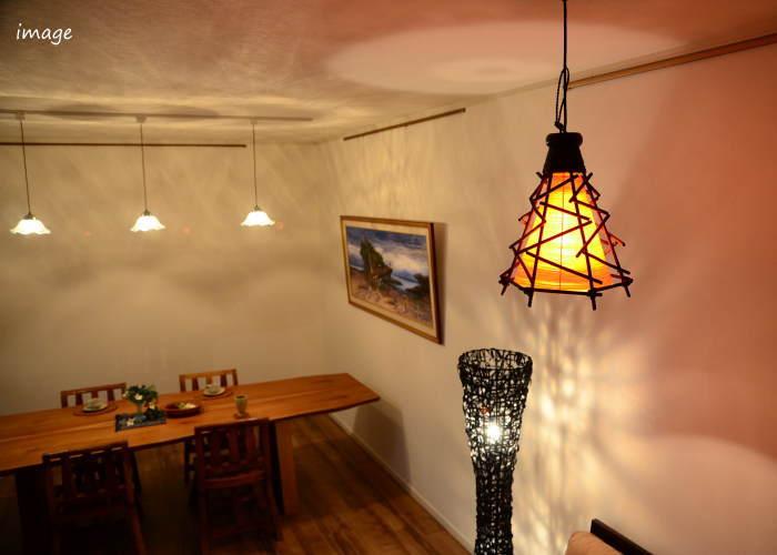 Zig Zag Bali Twig Conical Asian Lamps Hanging [orange] LAM 0061 OR ◇ Asian  Lighting Pendant Light Pendants Ceiling Pendant Western Style Pendant Bali  ...