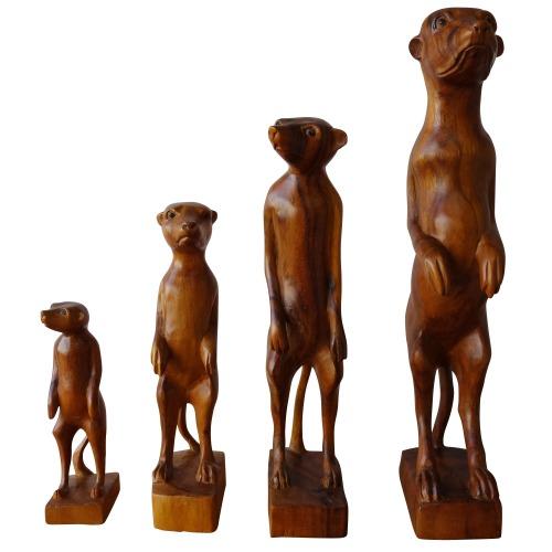ミーアキャット ミーアキャット ファミリー 木製 木彫り ファミリー 4匹セット 木製, トラック メッキパーツ:e21bb304 --- officewill.xsrv.jp