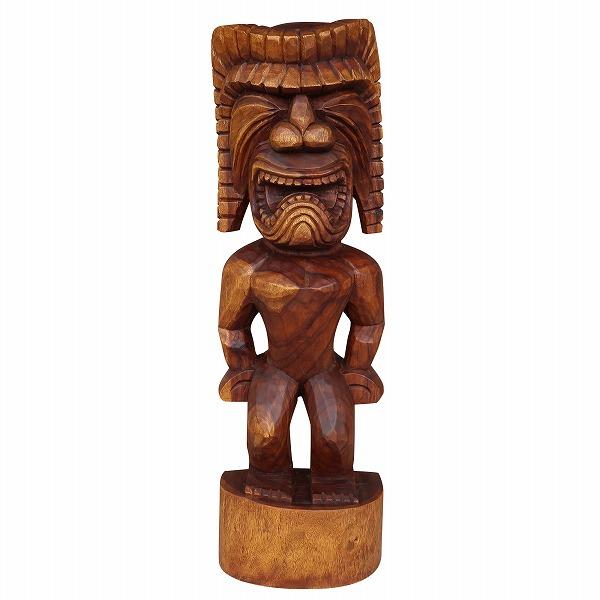 ティキの木彫り クー TIKI KU 100cm 木製スワール無垢材No.256