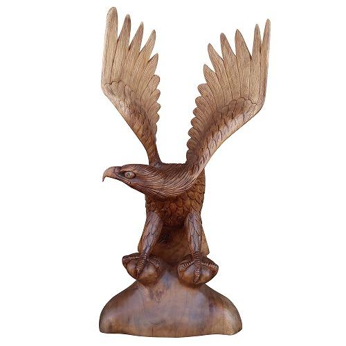 イーグルの木彫り60cm 鷲の木彫り置物 鷲の木彫り置物 No.421 右向き オブジェ 右向き No.421, 角田市:ef0eb451 --- officewill.xsrv.jp