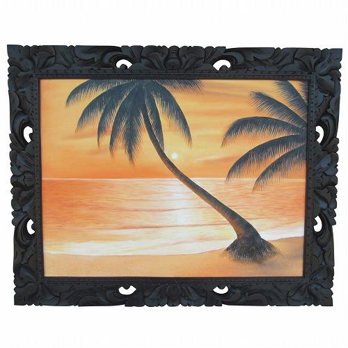 サンセットビーチ 夕日の砂浜の絵 100X80 IMAM作