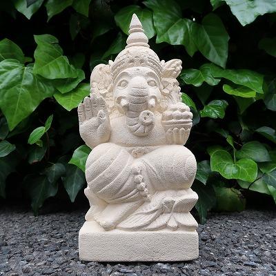 アジアン雑貨 バリ雑貨 石彫り彫刻 ガネーシャの置物 ゾウの神様 ストア 夢をかなえるゾウ 庭 バーゲンセール ガーデンオブジェ オーナメント 30cm 250616 ガネーシャ石像 パラスストーン