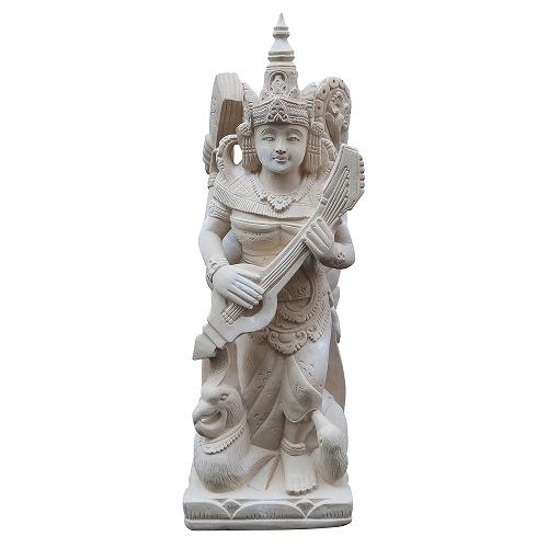 サラスワティー神の石像 パラスストーン 69cm
