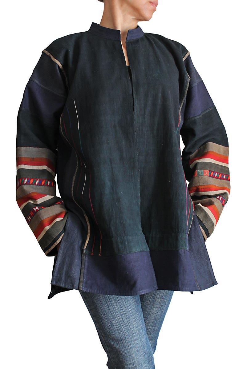 アカの古布ヘンプジャケット