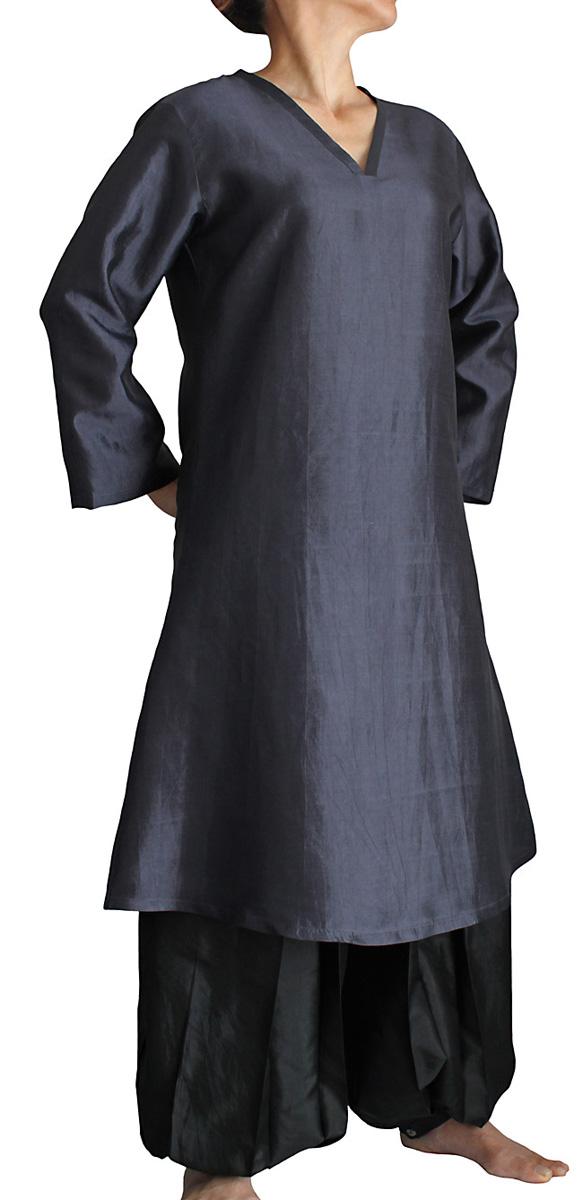 2020A モデル着用&注目アイテム W新作送料無料 柔らかタイシルクのカミーズドレス