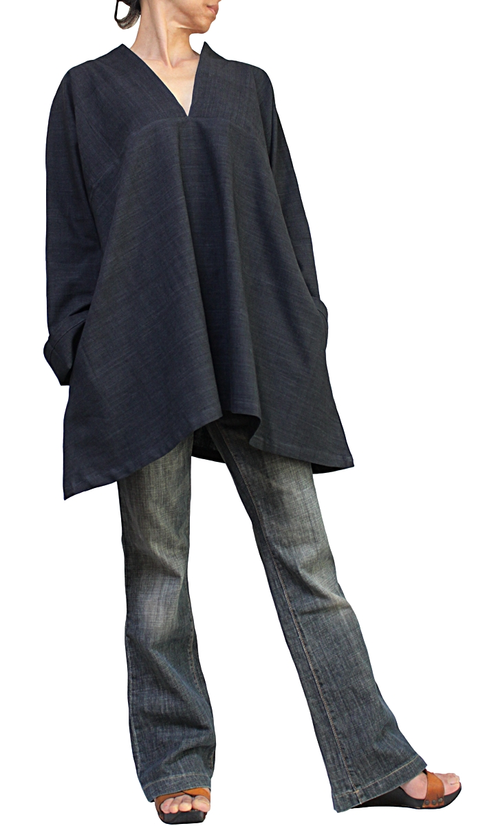 割引も実施中 ジョムトン手織綿のシンプルVチュニック ランキングTOP10