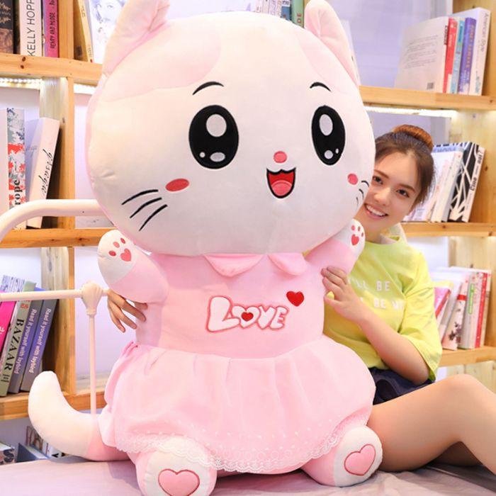 ピンクの服が可愛いネコのぬいぐるみです こちらの商品は80cmのサイズになります 小さいお子様やプレゼントにも最適です ピンクの可愛いキャット ぬいぐるみ 猫 着後レビューで 送料無料 ネコ おもちゃ 玩具 80cm ギフト 子供 ゆるかわ 誕生日 かわいい 結婚祝い セール 登場から人気沸騰 入学祝い プレゼント