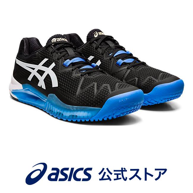 GEL-RESOLUTION 8 OC ブラック/ホワイト1041A078 001 アシックス ASICS ソリューションスピード スポーツシューズ テニスシューズ メンズインソール 運動靴 オムニ クレーコート用 ホワイト 白