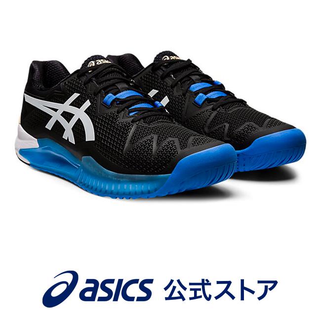 GEL-RESOLUTION 8 ブラック/ホワイト1041A113 001 アシックス ASICS ゲルレゾリューション スポーツシューズ テニスシューズ メンズインソール 運動靴 オールコート用 ブラック 黒