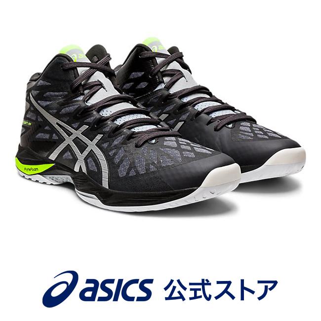 V-SWIFT FF MT 2 GRAPHITE GREY/PURE SILVER1053A018 020 アシックス ASICS Vスウィフト スポーツシューズ バレーボールシューズ メンズ レディースインソール 運動靴 ミドルカットブラック 黒