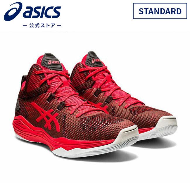 ASICS公式 NOVA FLOW STANDARD CLASSIC おしゃれ RED GRAPHITE GREY 1063a028 スポーツシューズ 601アシックス レディースバスケットシューズ メンズ 新品 スニーカー バッシュ バスケットボール 運動靴