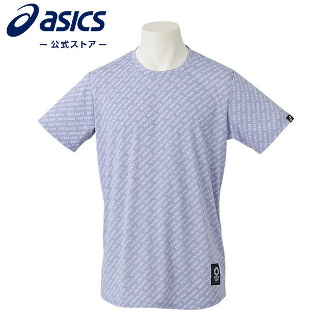 安値 ASICS公式 Tシャツ 東京2020オリンピックエンブレム グレー 流行のアイテム 東京2020公式ライセンス商品 022 2031b406