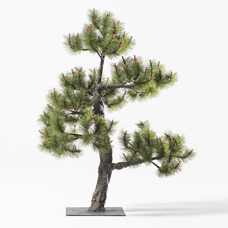 【即納】完全一点物制作品 アーティフィシャルフラワー 松の造花 高さ110cm【11】