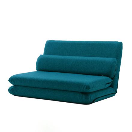 MORIITO  カバーが外せて洗濯可能 選べる6色カバーリングソファベッド [タスク ブルー]