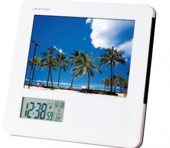 記念品 名入れ 時計 フォトフレーム電波時計 8785 30個(単価2,713円)