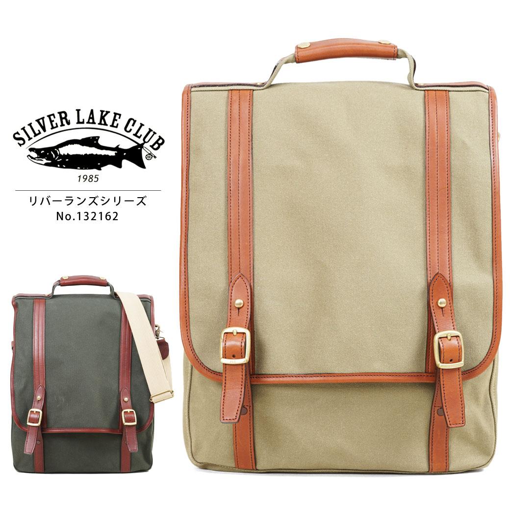 ショルダーバッグ メンズ SILVER LAKE CLUB シルバーレイククラブ River Runs リバーランズ 斜めがけバッグ 肩掛け 革付属コンビ A4 縦型 かぶせ蓋 軽量 日本製 メンズバッグ バッグ ブランド プレゼント 鞄 かばん カバン bag 送料無料