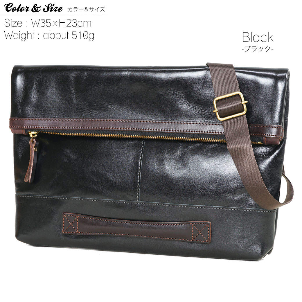 Clutch bag mens Zeha (CEH) brilliant (brilliant) second bag leather leather 2 WAY A4 under horizontal shoulder bag shoulder with thin gusset lightweight made in Japan brand ranking presents gift