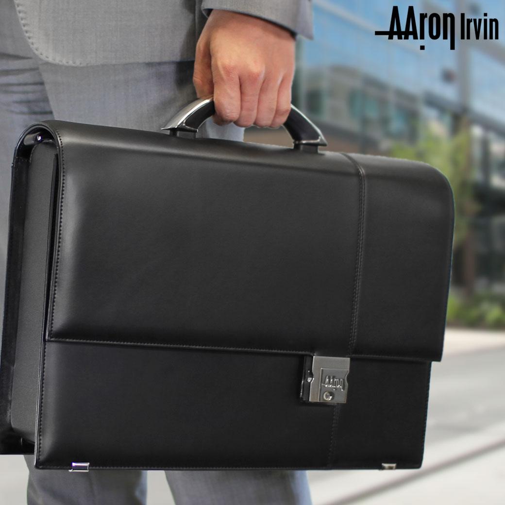 ビジネスバッグ ブリーフケース メンズ Aaron Irvin アーロン・アーヴィン Leather Business レザービジネス 本革 2WAY A4 ショルダーバッグ ショルダー付 メンズバッグ バッグ ブランド ランキング プレゼント 通勤バッグ
