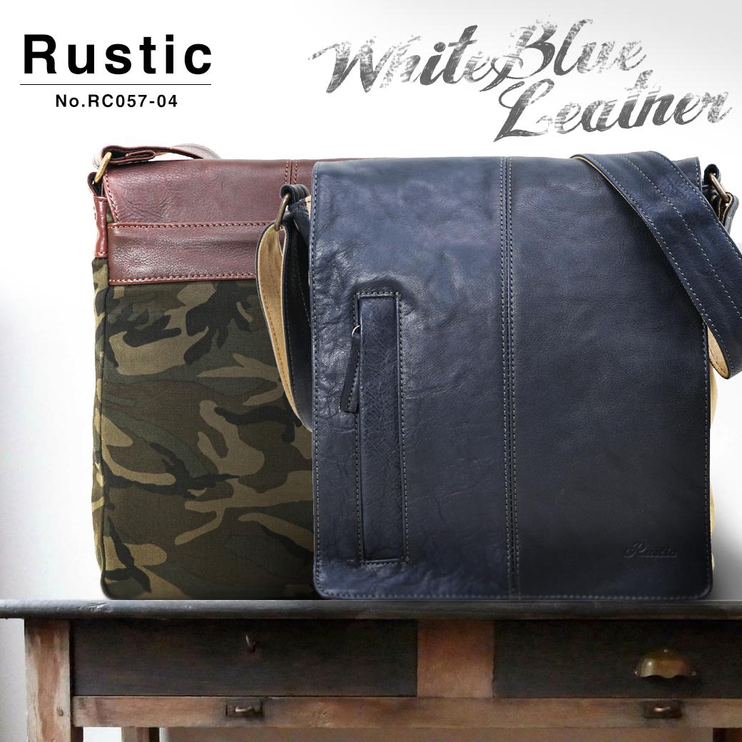 3a6fd40b8e95 楽天市場】ショルダーバッグ メンズ Rustic ラスティック ホワイトブルー ...