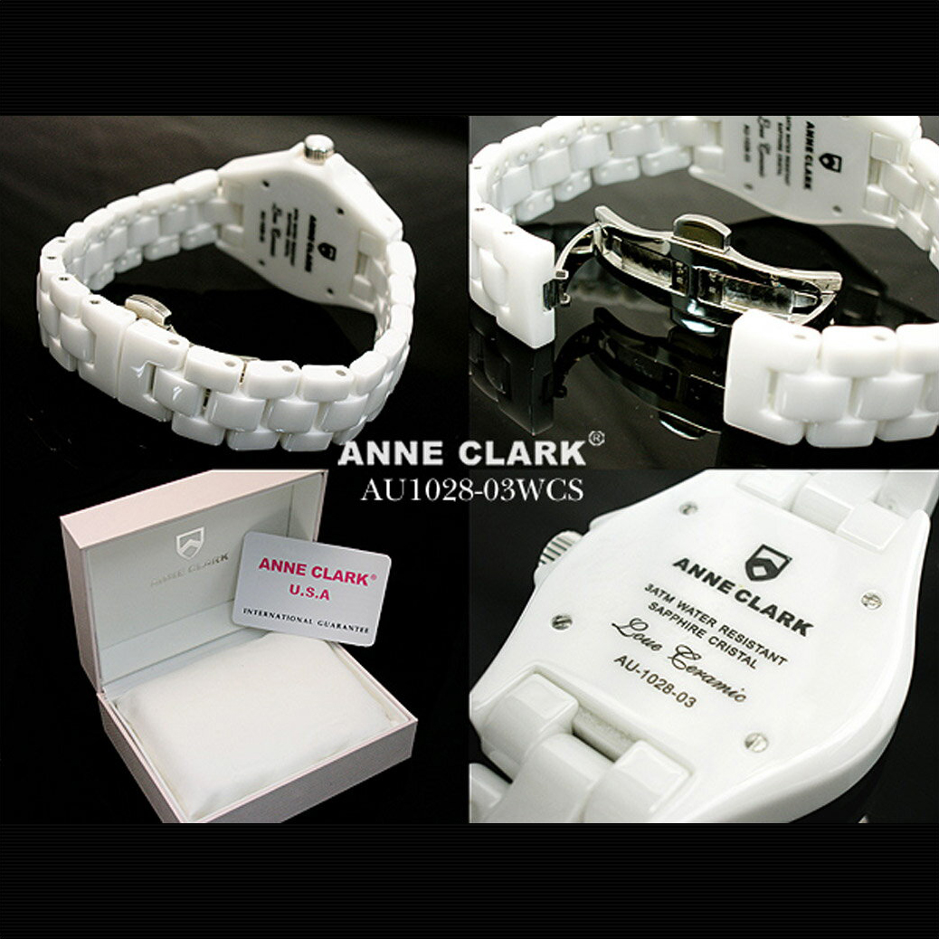 腕時計 ANNE CLARK [AU1028-03WCS]フルセラミックモデル Love Cramicレディース ホワイト 文字盤 アンクラーク 腕時計 時計 婦人 レディースウォッチ リストウォッチ 防水 ANy07kpl プレゼント