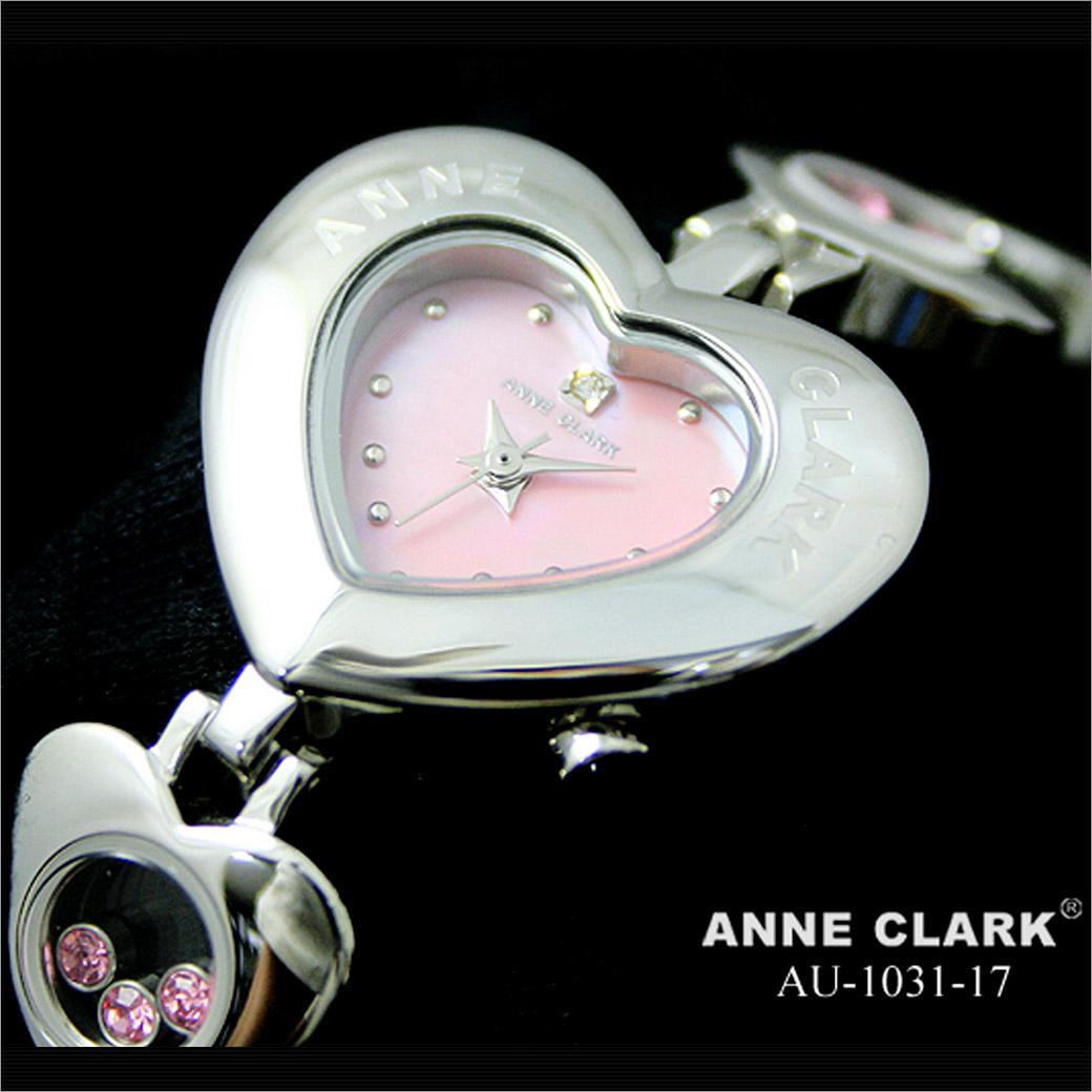 腕時計 ANNE CLARK ハートベゼル腕時計[AU1031-17]レディース腕時計 天然シェル ピンク文字盤 アンクラーク レディースウォッチ 時計 婦人 ブレスウォッチ かわいい 防水 通販 プレゼント
