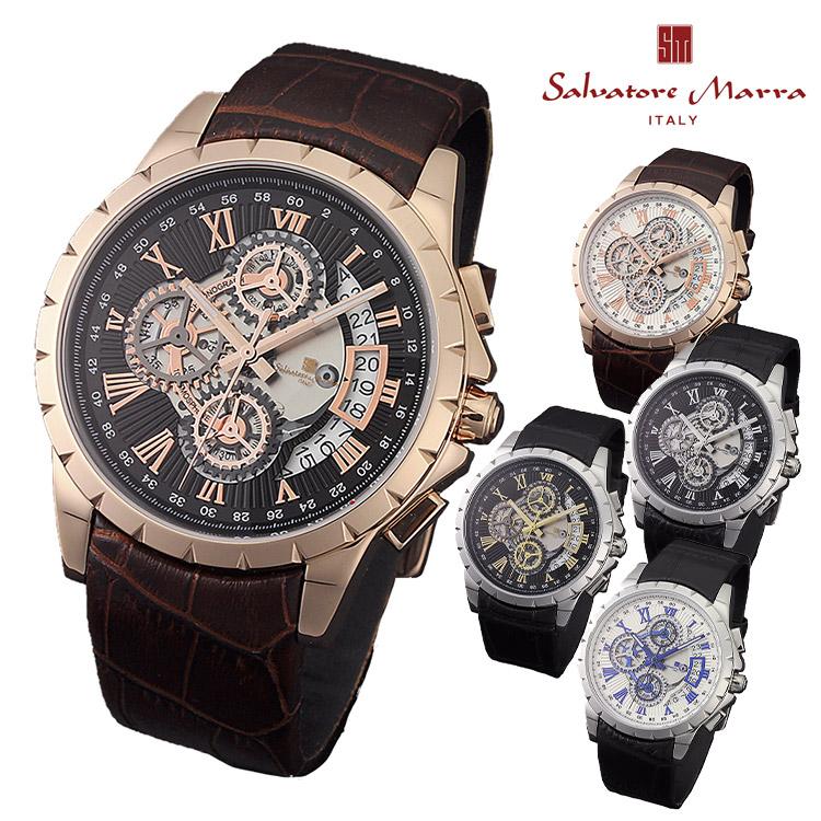 腕時計 Salvatore Marra SM13119S メンズ腕時計 サルバトーレマーラ 時計 クロノグラフ クォーツ レザーベルト ビジネス カジュアル 通販