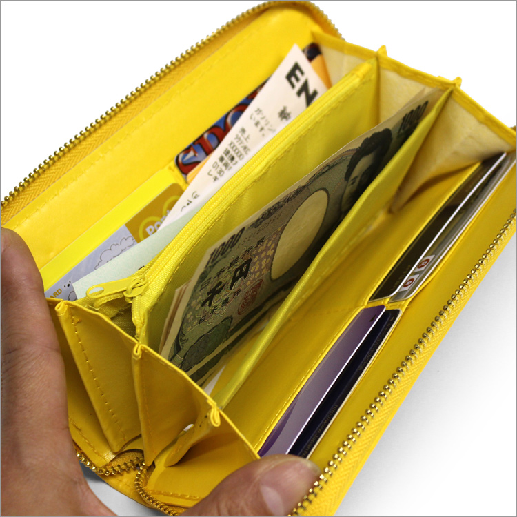 41e1b77b961 Long wallet owl parent and child type push wallet w-551 luck with money  good luck yellow men gap Dis owl round fastener