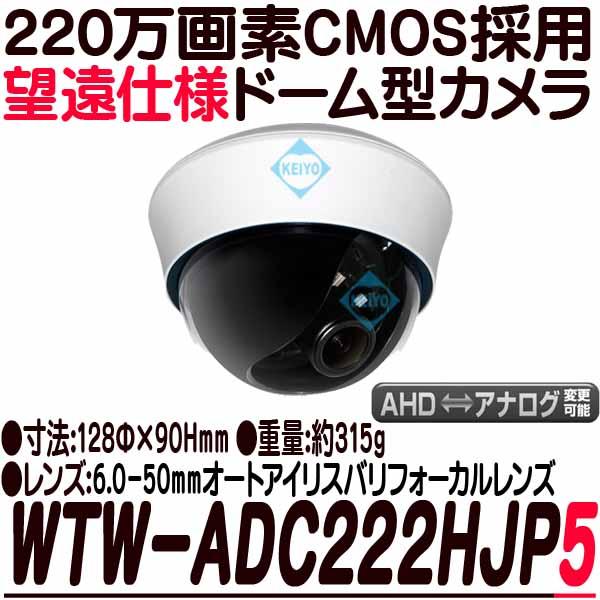 WTW-ADC222HJP5【AHD2.0方式採用220万画素屋内設置用望遠仕様ドーム型カメラ】 【防犯カメラ】 【監視カメラ】 【送料無料】