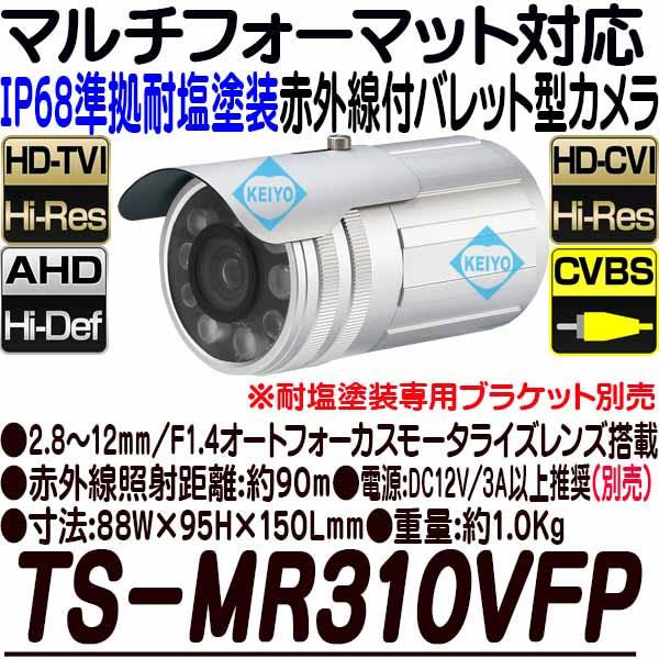TS-MR310VFP【耐塩塗装屋外防雨型赤外線搭載200万画素フルハイビジョンバレット型カメラ】 【防犯カメラ】【監視カメラ】【送料無料】