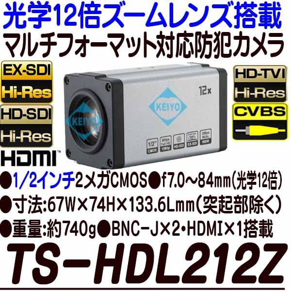 TS-HDL212Z【光学12倍ズームレンズ搭載1/2インチ低照度HD-SDI/EX-SDI方式対応カメラ】 【防犯カメラ】 【監視カメラ】 【3D Corporation】 【スリーディ】 【送料無料】