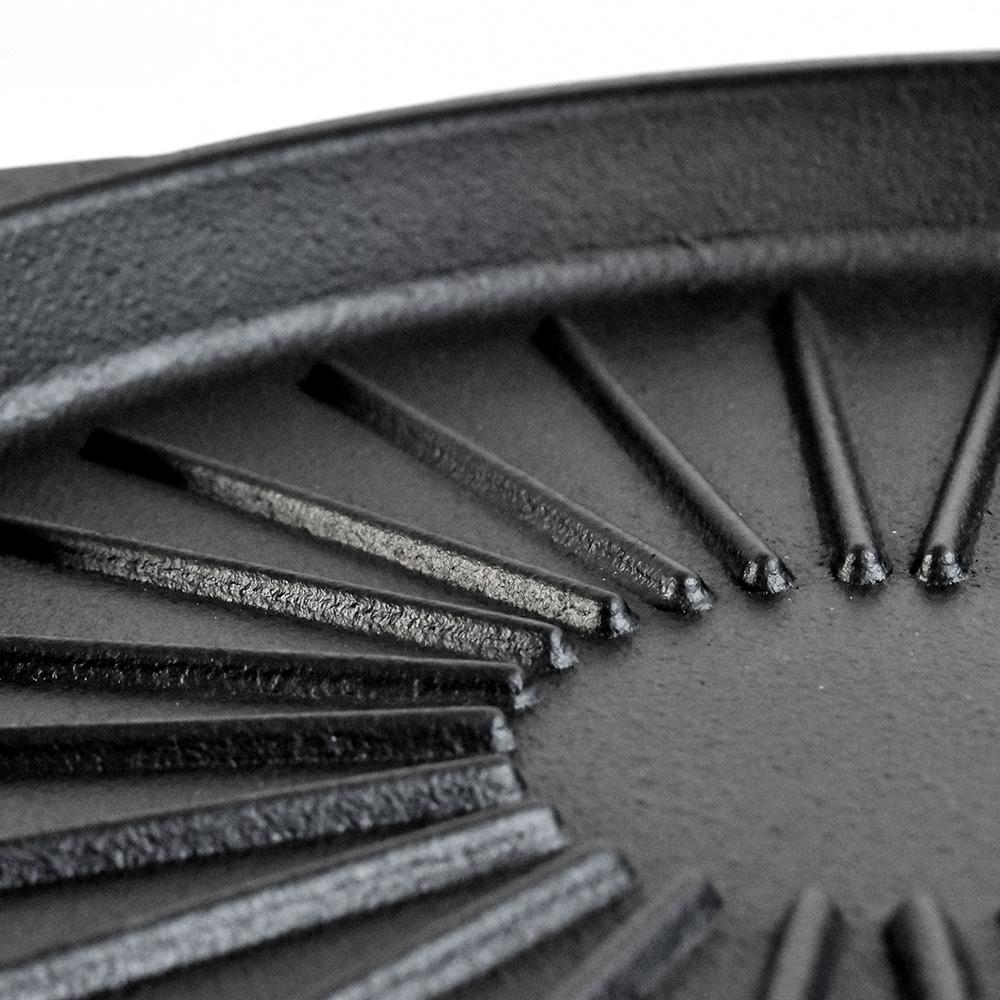 \NHK美と若さの新常識で紹介されました/ 南部鉄器 鉄板 焼肉プレート 丸型 内径28cm グリルプレート グリルパン フライパン IH対応 / 直火対応 / ガスコンロ対応 / オーブン対応 南部鉄 岩手 鉄 鉄分補給 IRON