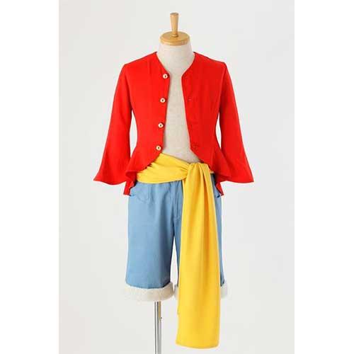 コスプレ ONE PIECE ワンピース モンキー・D・ルフィの衣装/新世界編 コスプレ衣装 SIZE-M アコス
