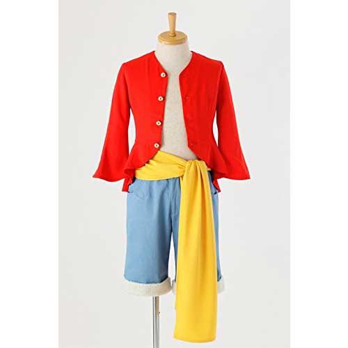 コスプレ ONE PIECE ワンピース モンキー・D・ルフィの衣装/新世界編 コスプレ衣装 SIZE-XL アコス