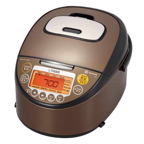 【海外向け】TIGER IH炊飯器 W銅5層遠赤特厚釜 E-JKTL10WXT 1.0L 5.5CUP 220V仕