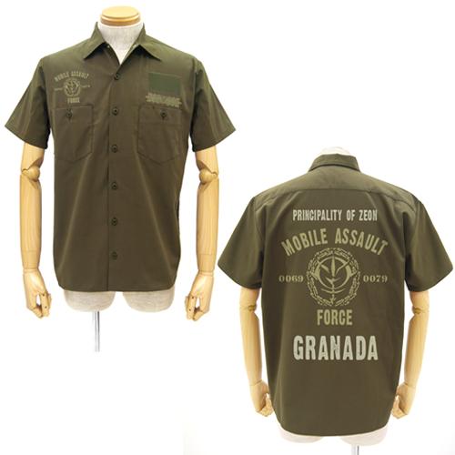 [COSPA] 機動戦士ガンダム ジオン突撃機動軍ワッペンベースワークシャツ KHAKI M コスパ