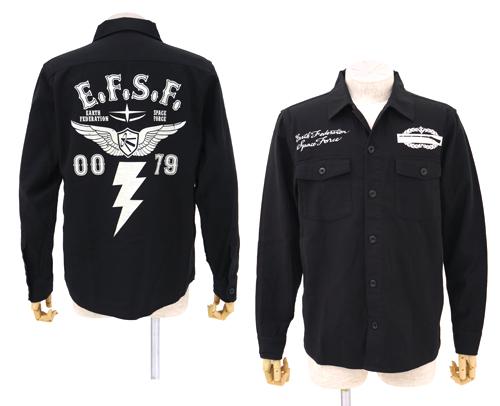 [COSPA] 機動戦士ガンダム 地球連邦軍B.D.Uシャツジャケット BLACK L コスパ