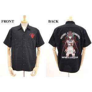 [COSPA]<インフィニット・ストラトス> ★限定★篠ノ之箒刺繍ワークシャツ BLACK M コスパ