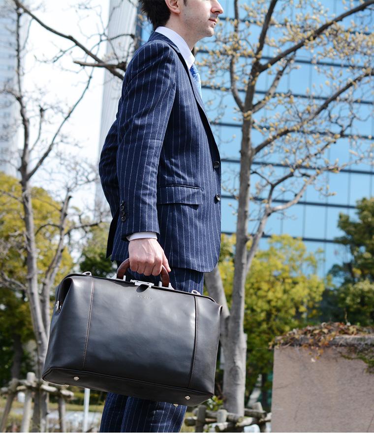 ダレスバッグ メンズ ビジネスバッグ A4 出張バッグ ボストンバッグ 日本製 AVECALDO AV-E006